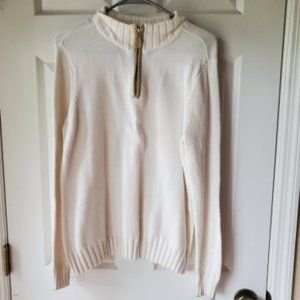Karen Scott Sweater Woman's White Pullover Fall